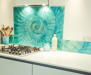 bespoke splashback glass art made to measure
