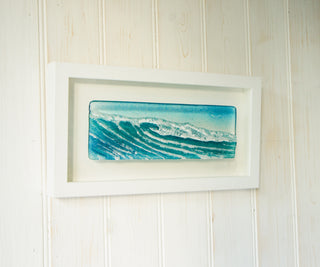 just a wave fused glass relief art wall art matt adkins