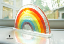 "Load image into Gallery viewer, 2 Rainbow Suncatchers - Freestanding - 19x10cm (7 1/2x4"")"