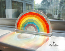 "Load image into Gallery viewer, 4 Rainbow Suncatchers - Freestanding - 19x10cm (7 1/2x4"")"