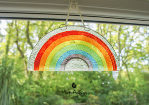 "3 Rainbow Suncatchers - Hanging - 19x10cm(7 1/2x4"")"