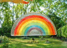 "Load image into Gallery viewer, 4 Rainbow Suncatchers - Hanging - 19x10cm(7 1/2x4"")"