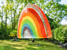 "Load image into Gallery viewer, 2 Rainbow Suncatchers - Bundle: 1 Freestanding + 1 Hanging - 19x10cm (7 1/2x4"")"
