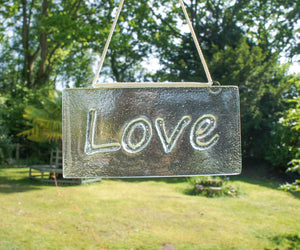 "Love Suncatcher - Hanging - 20x10cm(8x4"")"