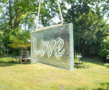 "Load image into Gallery viewer, Love Suncatcher - Hanging - 20x10cm(8x4"")"