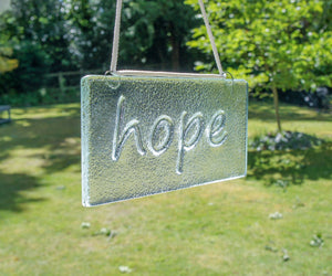 "Hope Suncatcher - Hanging - 20x10cm(8x4"")"