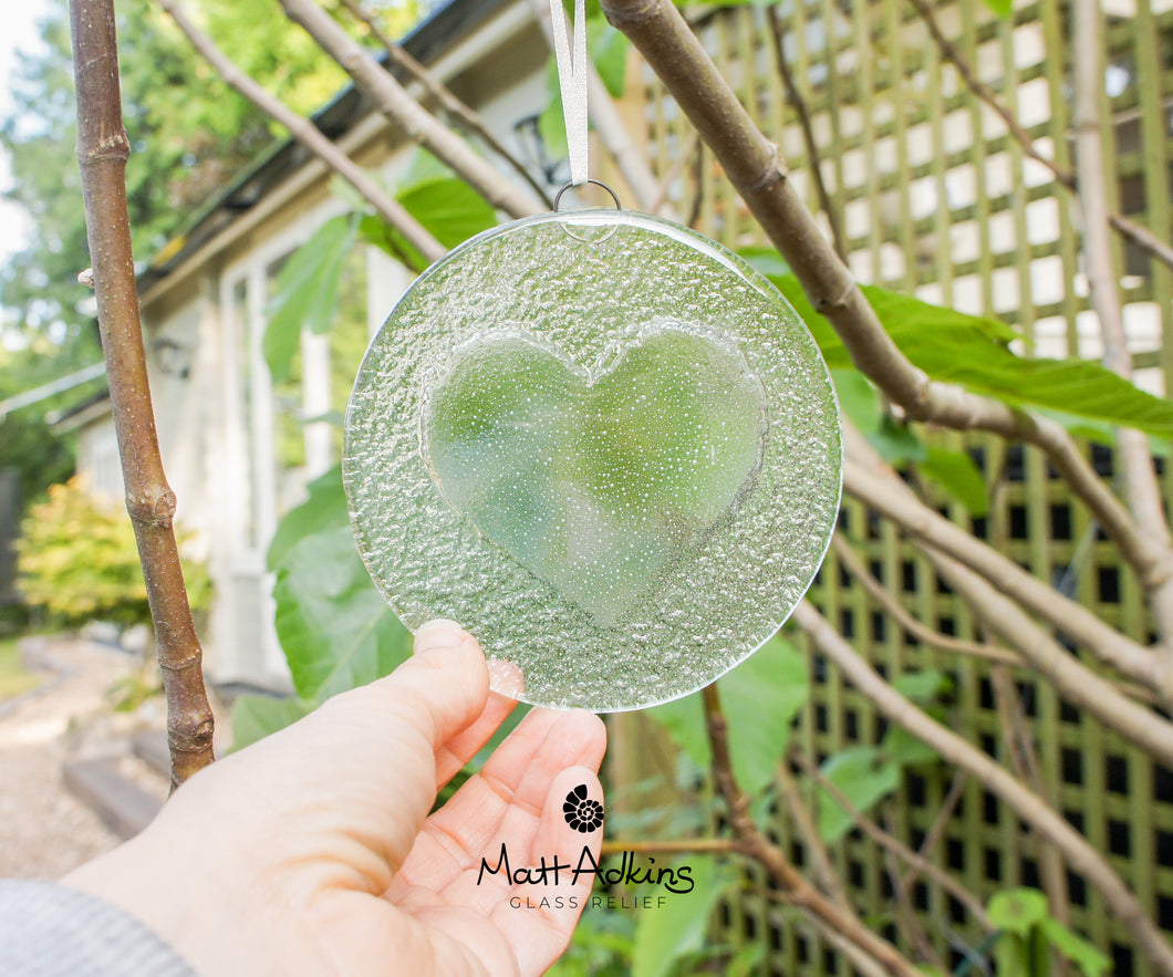 Clear Heart Suncatcher - 12cm(5