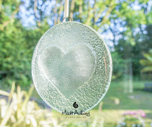 "Clear Heart Suncatcher - 12cm(5"")"