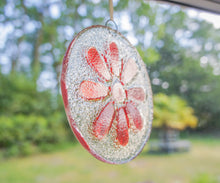 "Load image into Gallery viewer, Red Daisy Suncatcher - 12cm(5"")"