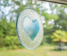 "Load image into Gallery viewer, Blue Heart Suncatcher - 12cm(5"")"