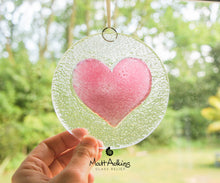 "Load image into Gallery viewer, Cherry Pink Heart Suncatcher - 12cm(5"")"