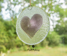 "Load image into Gallery viewer, Purple Heart Suncatcher - 12cm(5"")"