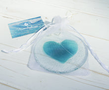 "Load image into Gallery viewer, Turquoise Heart Suncatcher - 12cm(5"")"