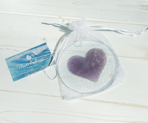 "Purple Heart Suncatcher - 12cm(5"")"
