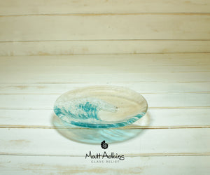 "Small Wave Turquoise Bowl - 20cm(8"")"
