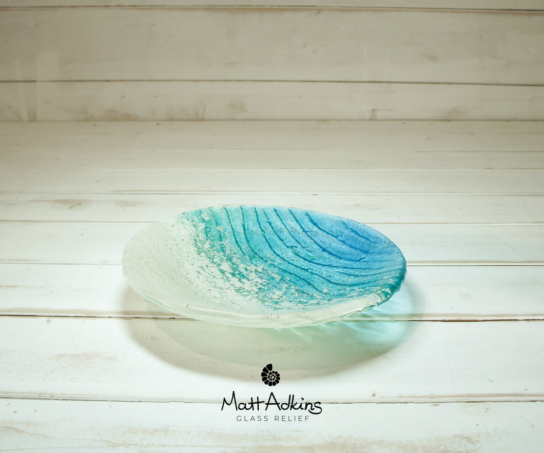paradise beach glass fruit bowl