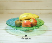 Load image into Gallery viewer, lime green glass fruit bowl