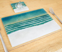 "Load image into Gallery viewer, Set of 1 Beach Placemat 30x20cm(11 3/4 x 8 1/4"") + 1 Beach Coaster 10cm(4"")"
