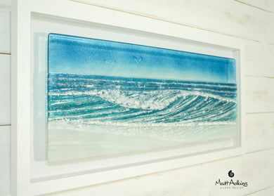 large glass wave wall art picture frame