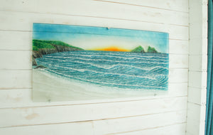 "Bay Wave Art 96cmx47cm(38x18"") 