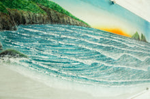 "Load image into Gallery viewer, Bay Wave Art 96cmx47cm(38x18"") 