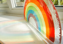 "Load image into Gallery viewer, 1 Large Rainbow Suncatcher - Freestanding - 29x15cm (11 1/2x6"")"