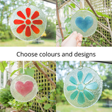 "Load image into Gallery viewer, Clear Heart Suncatcher - 12cm(5"")"