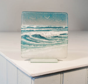 "Wave Panel Small  - Model 1 D2 - 12cm(5"") on a foot"