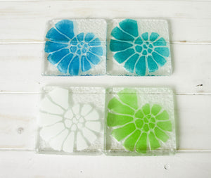 6 Ammonite Coasters - Choose your colours