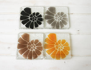 2 Ammonite Coasters - Choose you colours