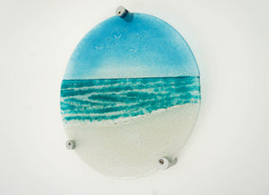 "Turquoise Beach Panel - Round - 29cm (10 1/2"") with fixings"