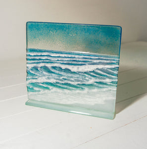 "Wave Panel - Model 3 - 22x20cm(8 1/2x7 3/4"") on a foot"
