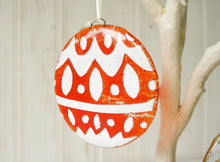 "Load image into Gallery viewer, 3 Norwegian Glass Bauble - Hanging - 12cm(5"")"