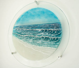 "Wave Wall Panel - Large Porthole - 58.5cm (23"") with fixings"