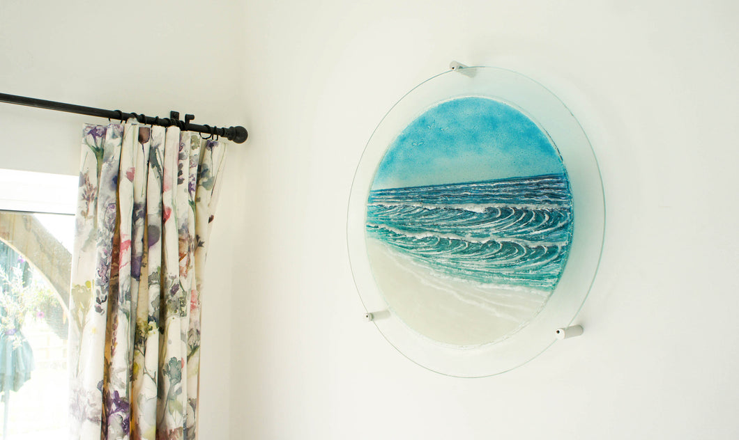 Wave Wall Panel - Large Porthole - 58.5cm (23