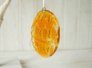 "3 Norwegian Glass Bauble - Hanging - 12cm(5"")"
