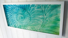"Load image into Gallery viewer, Ammonite Frame - Large Landscape - Blue Turquoise Green - 60x30cm(23""x12"")"