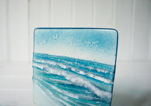 "Wave Panel Small - Model 1 D1 - 12cm(5"") on a foot"