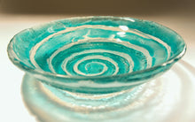 "Load image into Gallery viewer, Turquoise Swirl Bowl - 29cm(12"")"