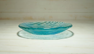 "Small Seabed Bowl - Turquoise Blue - 20cm(8"")"