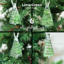 "Load image into Gallery viewer, 4 Mini Glass Tree - Hanging - Choose your colours - 8cm(3"")"