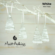 "Load image into Gallery viewer, 3 Mini Glass Trees - Hanging - Choose your colours - 8cm(3"")"
