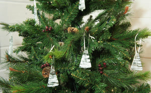 "4 Mini Glass Tree - Hanging - Choose your colours - 8cm(3"")"
