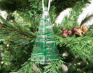 1 to 6 Medium Dark Green Trees - Hanging - 12cm/3 3/4""