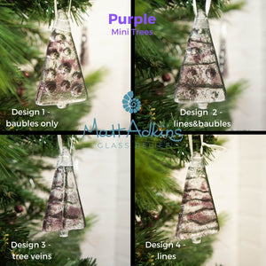 "3 to 6 Mini Purple Glass Trees - Hanging - 8cm(3"")"