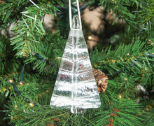 Load image into Gallery viewer, 1 to 6 Medium White Glass Trees - Hanging - 12cm/3 3/4""