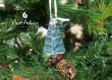 Load image into Gallery viewer, blue sea glass christmas tree decorations