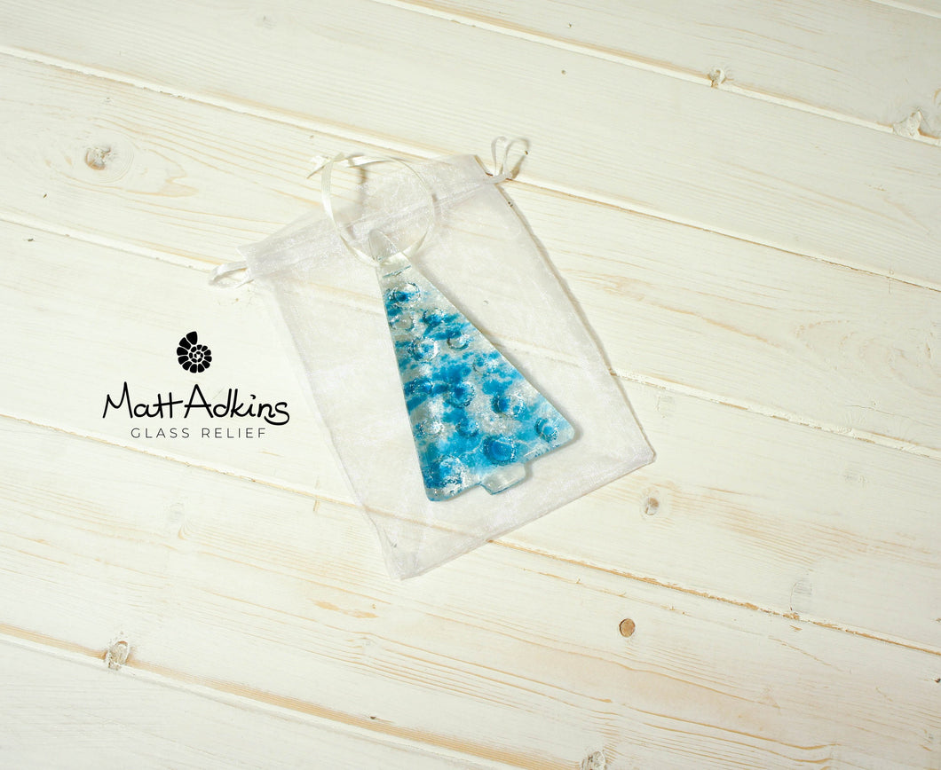 1 to 6 Medium Blue Trees - Hanging - 12cm/3 3/4