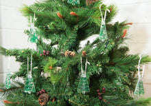 Load image into Gallery viewer, tree green se glass christmas decorations