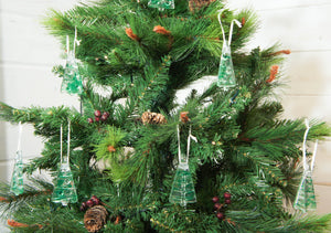 tree green se glass christmas decorations
